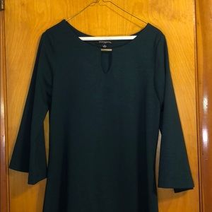 Hunter Green Fit and Flare Dress Size 10